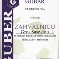 FK Guber Zahvalanica 2014. godina