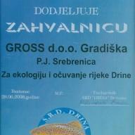 Zahvalnica SRD Drina 2008.