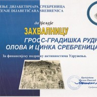 Zahvalnica-Udruženje dijabetičara Srebrenica