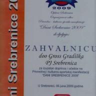 Zahvalnica Dani Srebrenice 2009.