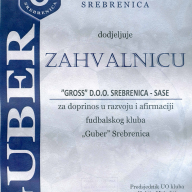 Zahvalnica FK Guber 2011.