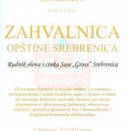 Zahvalnica opštine Srebrenica