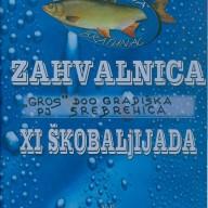 Zahvalnica Škobaljijada 2011.