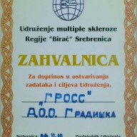 Zahvalnica Udruženje Birač 2010.
