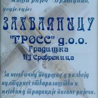 Zahvalnica Udruženje književnika 2008.