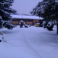Spomen park pod snijegom 2012. god.