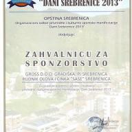 Dani Srebrenice 2013